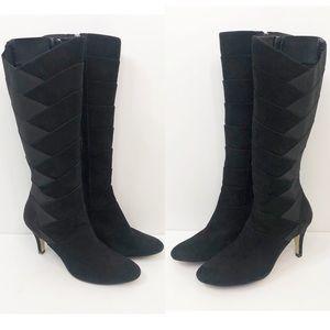 Adrienne Vittadini Traverse Bandage Stretch Boots